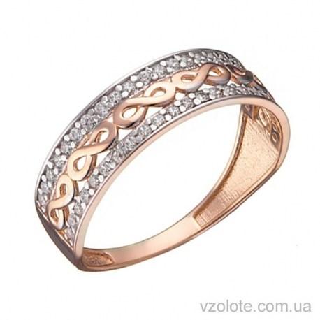 Золотое кольцо с фианитами Хелен (арт. 1191454101)