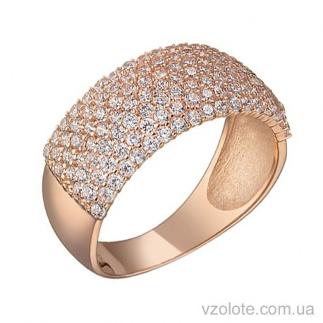 Золотое кольцо с фианитами Шакира (арт. 1191467101)