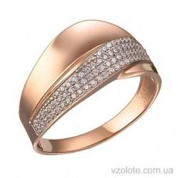 Золотое кольцо с фианитами Амели (арт. 1191492101)