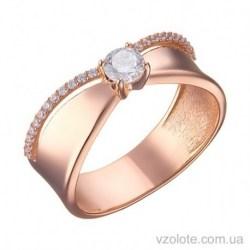 Золотое кольцо с фианитами Шейла (арт. 1191512101)