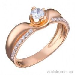 Золотое кольцо с фианитами Ости (арт. 1191513101)