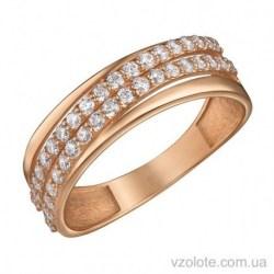 Золотое кольцо с фианитами Афина (арт. 1191514101)
