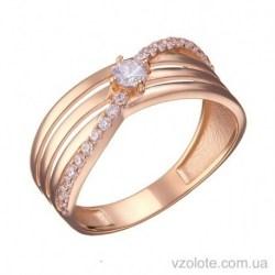 Золотое кольцо с фианитами Санта (арт. 1191516101)