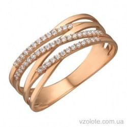 Золотое кольцо с фианитами Тани (арт. 1191519101)