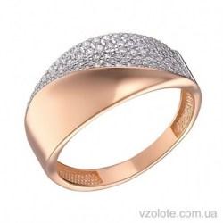 Золотое кольцо с фианитами Гретта (арт. 1191525101)