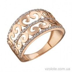 Золотое кольцо с фианитами Терри (арт. 1191542101)