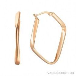 Золотые серьги Геометрия (арт. 2002545101)