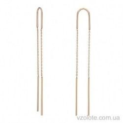 Золотые серьги-протяжки (арт. 2003316101)
