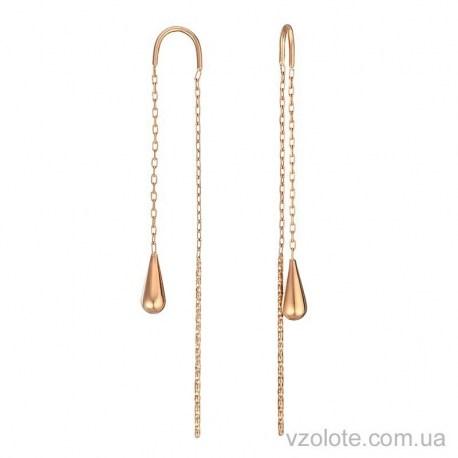 Золотые серьги-протяжки Капля (арт. 2004159101)