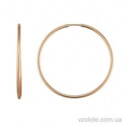 Золотые серьги кольца Катрин (арт. 2005644101)