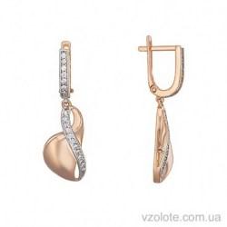 Золотые серьги с подвесками Сюзанна (арт. 2106095101)