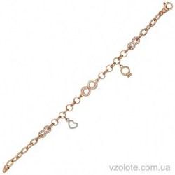 Золотой браслет с подвесками Бесконечность (арт. 4216304112)