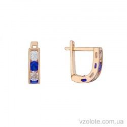 Золотые детские серьги с голубыми фианитами Одри (арт. 2106063101г)