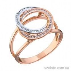 Золотое кольцо с фианитами Офра (арт. 1191466112)