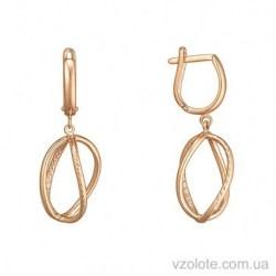 Золотые серьги с алмазной гранью Лиора (арт. 2005744101)