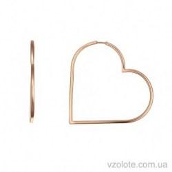 Золотые серьги Сердце (арт. 2005823101)