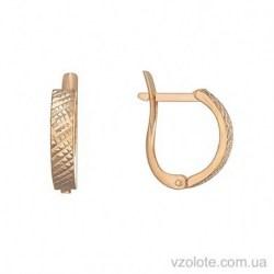 Золотые серьги с алмазной гранью Сабина (арт. 2006071101)