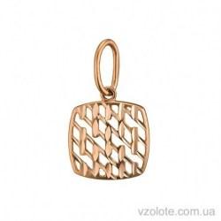Золотой кулон с алмазной гранью Мальва (арт. 3091517101)