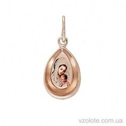 Золотая ладанка с эмалью Матерь Божья (арт. 3101768101)