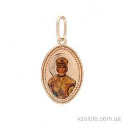 Золотая ладанка с эмалью Николай (арт. 3104853101)
