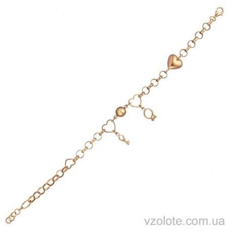 Золотой браслет с подвесками Счатье (арт. 4213945101)