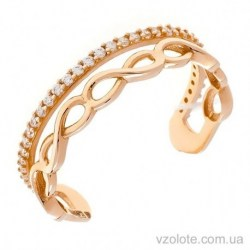Золотое кольцо на большой палец с фианитами (арт. 1106359101)