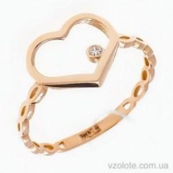 Золотое кольцо с фианитами Love (арт. 1106364101)