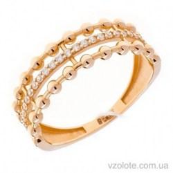 Золотое кольцо с фианитами Дельта (арт. 1106365101)