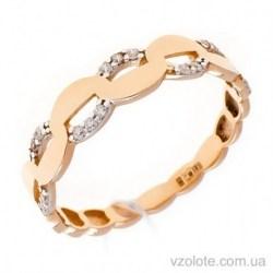 Золотое кольцо с фианитами Герда (арт. 1106386101)