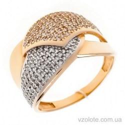 Золотое кольцо с россыпью фианитов Дорис (арт. 1191354101)