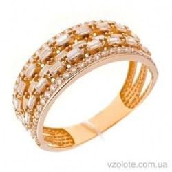 Золотое кольцо с фианитами Влада (арт. 1191532101)