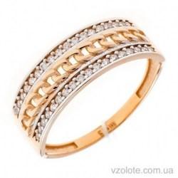Золотое кольцо с фианитами Кесси (арт. 1191615101)