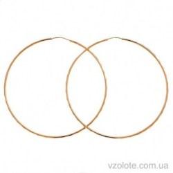 Золотые серьги-кольца с алмазной гранью (арт. 2005361101)
