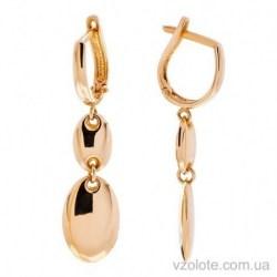 Золотые серьги с подвесками Криста (арт. 2005706101)