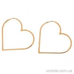 Золотые серьги Сердце (арт. 2005819101)