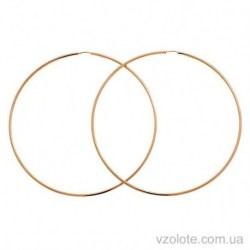 Золотые серьги-кольца Конго (арт. 2006096101)