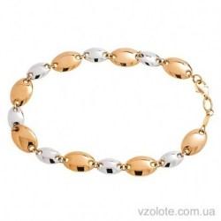 Золотой комбинированный браслет Криста (арт. 2405702112)