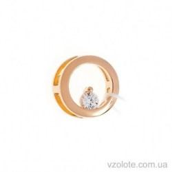 Золотая круглая подвеска с фианитом (арт. 440481)