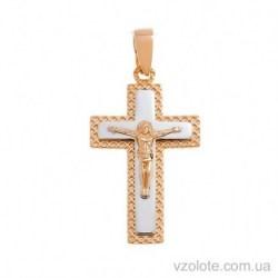 Золотой крестик с распятием (арт. 501039)