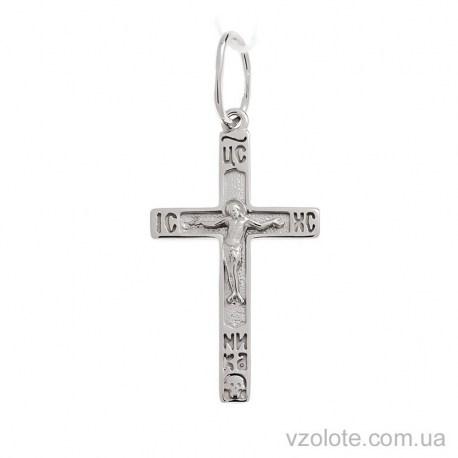 Крестик из белого золота с распятием (арт. 501588б)