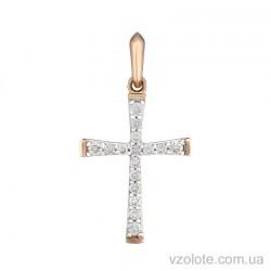 Золотой крестик с бриллиантами (арт. 3103647201)