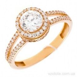 Золотое кольцо с фианитами Лингрис (арт. 1106730101)