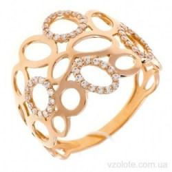 Золотое кольцо с фианитами Раоза (арт. 1191658101)