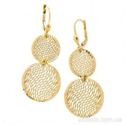 Серьги из лимонного золота Лордос (арт. 2005722103)