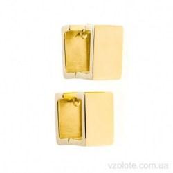 Серьги из лимонного золота Quadrate (арт. 2006269103)
