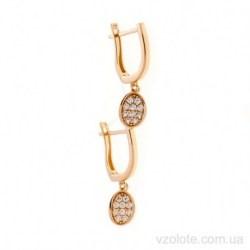 Золотые серьги с подвесками Рисми (арт. 2106614101)