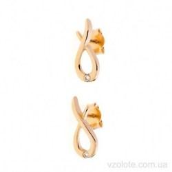 Золотые серьги-пусеты Рыбки (арт. 2106848101)