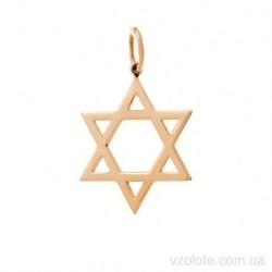 Золотой кулон звезда Давида (арт. 3006057101)