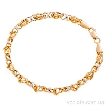 Золотой комбинированный браслет Фантазия (арт. 4206426112)