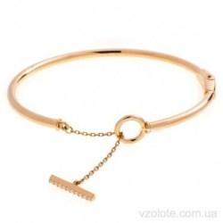 Золотой жесткий браслет с подвеской Ирвен (арт. 4216109101)